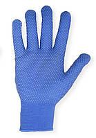 Перчатки женский стрейч синий