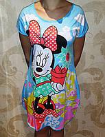 Женская ночная рубашка-туника Микки Маус