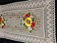 Салфетки -дорожки 90*40 натуральный лен с вышивкой, фото 1