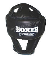 Шлем для каратэ/бокса BOXER, кожа, разн. цвета, L