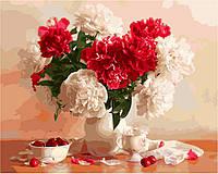 Картина по номерам Menglei КН2055 Розы и вишни 40 х 50 см