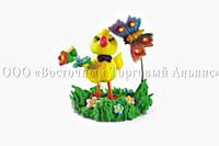 Украшения для куличей - Цыплёнок с бабочкой