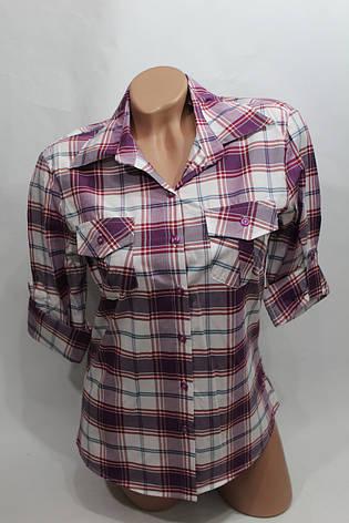 """Женская рубашка в клетку """"норма"""" оптом в Хмельницком, фото 2"""