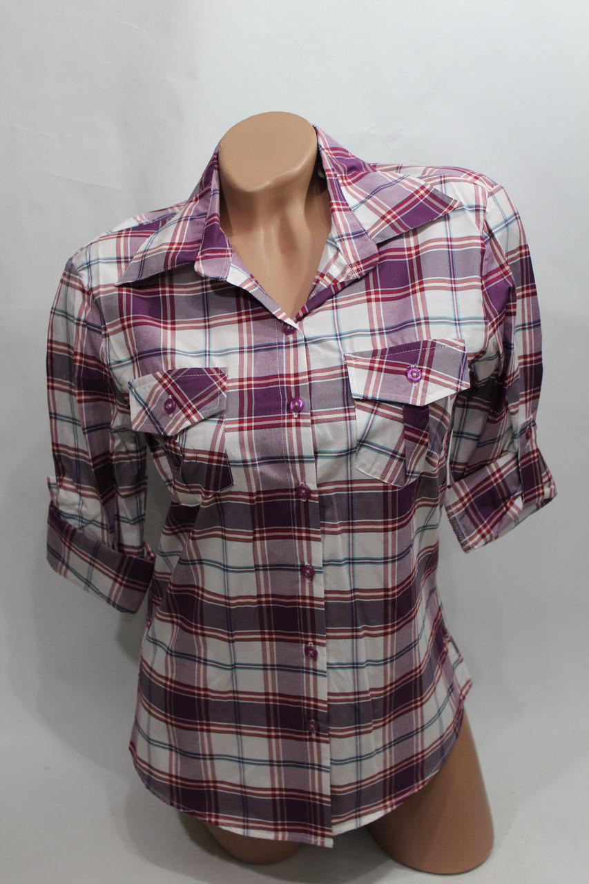 """Женская рубашка в клетку """"норма"""" оптом в Хмельницком"""