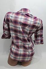 """Женская рубашка в клетку """"норма"""" оптом в Хмельницком, фото 3"""