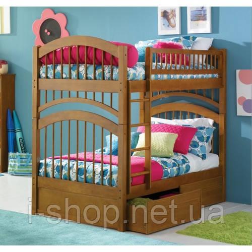 Двухъярусная кровать Артемон - 90х200 см, орех