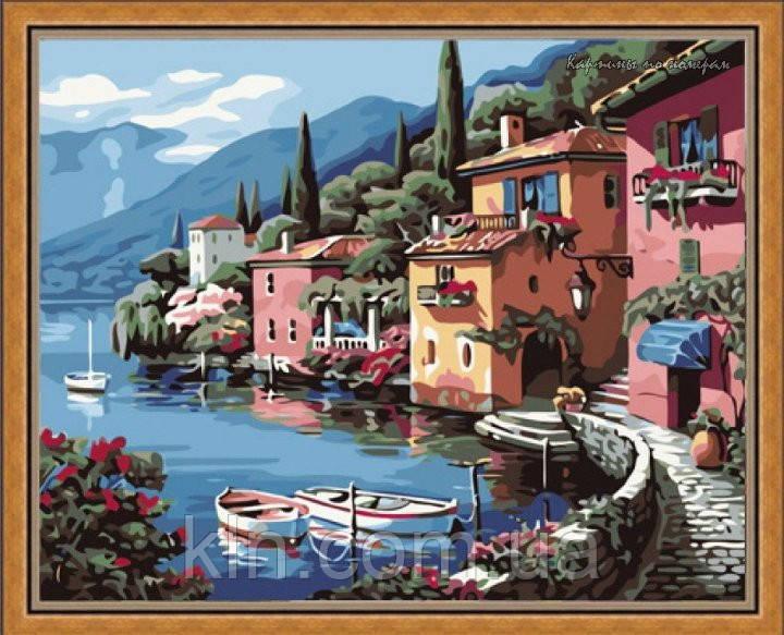 Картина по номерам Идейка Итальянская набережная КН103 40 х 50 см