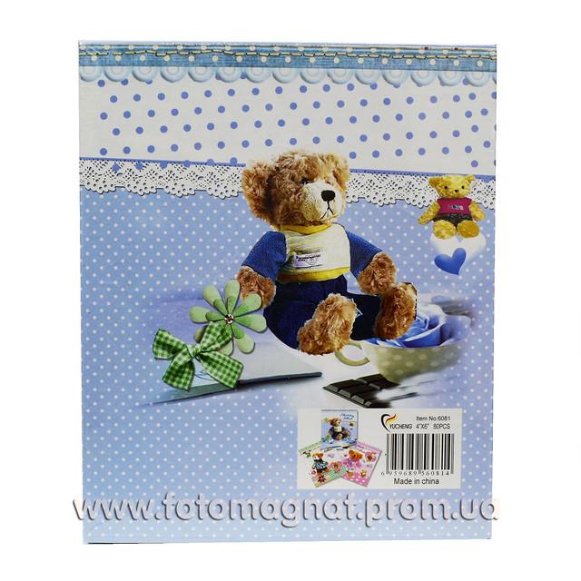 Детский фотоальбом в подарочной коробке 80 фото 10х15 см.