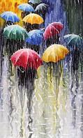 Набор алмазной вышивки Под дождем яркие зонты KLN 25 х 20 см (арт. FS050)