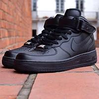 Найки аир форсы Nike air force высокие черн.
