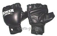 Перчатки для тхэквондо BOXER, дутые, кожа, размеры: M, L, XL, черные.