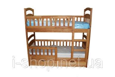 АКЦИЯ! Двухъярусная кровать Карина Люкс Эко (с нижними бортиками) + ящики + матрасы