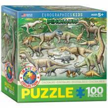 Красочные пазлы 'Динозавры, №1, 100 элементов