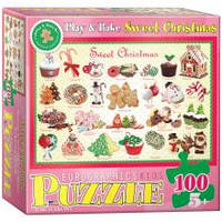 Красочные пазлы 'Рождественские угощения, №1, 100 элементов
