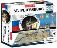 Объемные пазлы  город 'Петербург, Россия' 4D Cityscape
