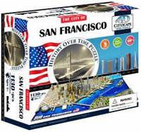 Объемные пазлы  город 'Сан-Франциско, США' 4D Cityscape