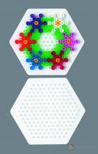 Поле для термомозаики ( подложка ) Малый шестиугольник, 169 кілочків, Миди от 5-ти лет, Hama 223