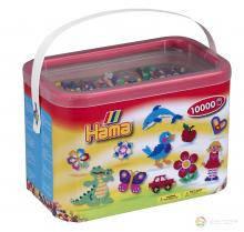 Бусины для термомозаики 10000шт в коробке 10 цветов Hama 202-00