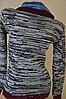 Рубашка женская с джинсовим воротником, фото 2
