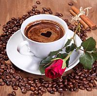 Набор алмазной вышивки Роза с кофе KLN 20 х 20 см (арт. FS053)