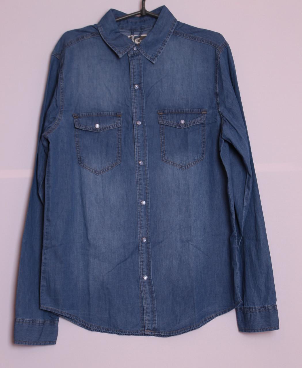 Джинсова чоловіча сорочка розміри s-xl.