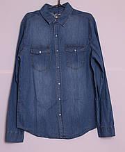 Джинсовая мужская рубашка размеры s-xl.