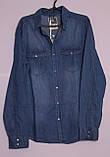 Джинсова чоловіча сорочка розміри s-xl., фото 2