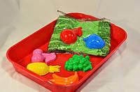 """Кинетический песок WABA FUN  в наборе """"Цветной зеленый"""", фото 1"""