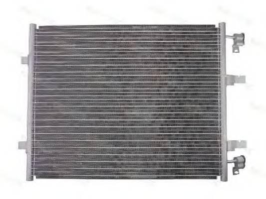Радиатор кондиционера Opel Vivaro 2006- (2.0) без осушителя (610*435*16мм по сотах) KEMP