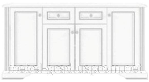 Комод - бар 4D2S Вайт / White Гербор