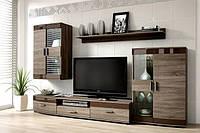 Гостиная Siena / Сиена MM Brawo дуб sonoma темный / коричневый глянец