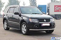 Suzuki Grand Vitara 2005-2014 гг. Боковые площадки Allmond Black (2 шт., алюминий)