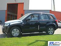 Suzuki Grand Vitara 2005-2014 гг. Боковые трубы BB002 (2 шт, нерж)