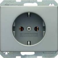 Berker K.5 - Розетка 2к+з, SCHUKO, нержавеющая сталь