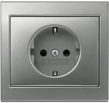 Berker K.5 - Розетка 2к+з, SCHUKO, нержавеющая сталь, фото 2