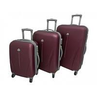 Набір чемоданів 3в1(карбон) вел+сер+малий
