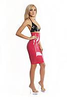 Юбка из латекса до колен с высокой талией Latex Pencil Skirt High Waist