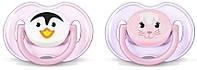 Силиконовая пустышка Philips AVENT Classic 2 шт. розовая (SCF182/23)