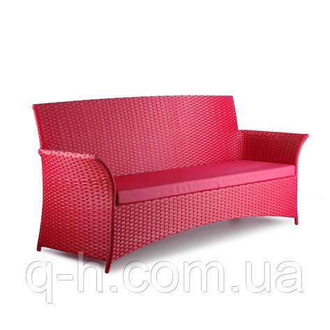 Красный плетеный диван из искусственного ротанга Patio, фото 2