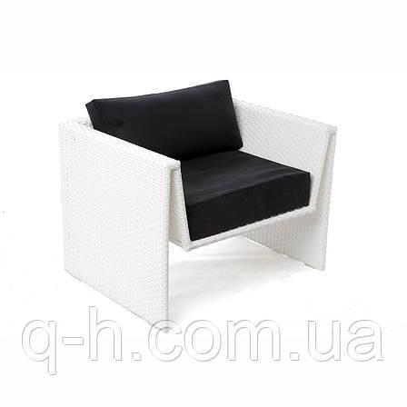 Кресло плетеное из искусственного ротанга origami 91x73x65 см, фото 2