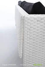 Кресло плетеное из искусственного ротанга origami 91x73x65 см, фото 3