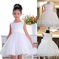 Платье для девочки нарядное с бантом