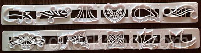 Пэчворк (штампы декоративные) цветы, листья, вензеля