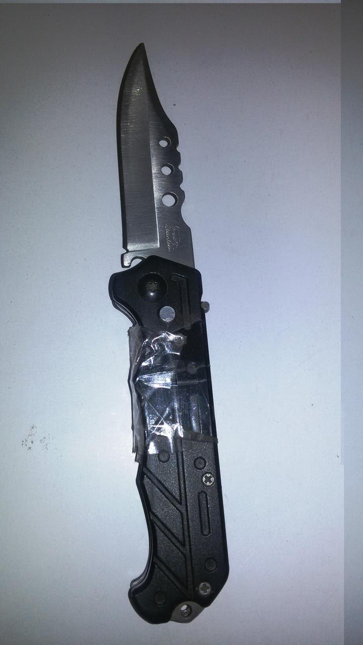 Нож раскладной черная ручка