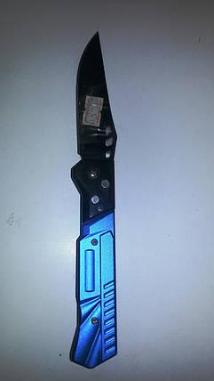 Нож раскладной синяя ручка, фото 2