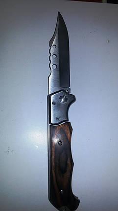 Нож раскладной деревянная ручка средний, фото 2
