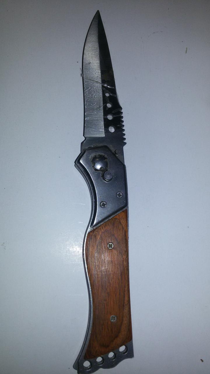 Нож раскладной коричневая ручка