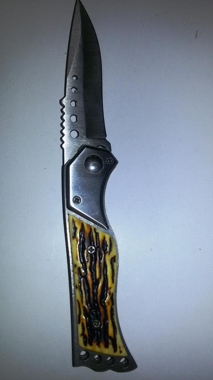 Нож раскладной костяная ручка маленький 5048