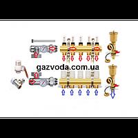 Коллектор для систем отопления AQUAWORLD на одиннадцать выходов