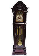 Напольные часы с боем механические-темный орех